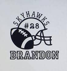 Football Personalized Custom Car Decal Vinyl Stickers Etsy Football Vinyl Decal Football Decal Football Decals Cars