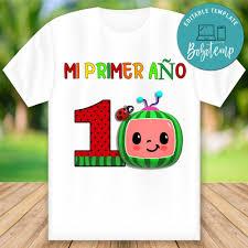 Personalizable Cocomelon Primer Cumpleanos Camisas Png Archivo