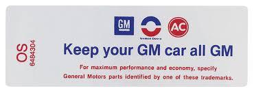 Decal 69 Cutlass Air Cleaner 400 455 4bbl Hp Keep Your Gm Car All Gm Opgi Com