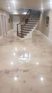metallic flooring concrete