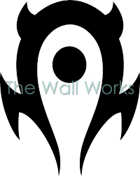 World Of Warcraft Horde Wall Sticker Vinyl Decal The Wall Works
