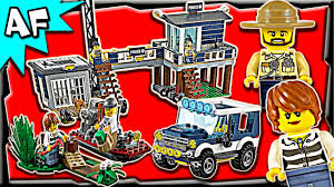 Lego City SWAMP POLICE Station 60069 Stop Motion Build Review ...