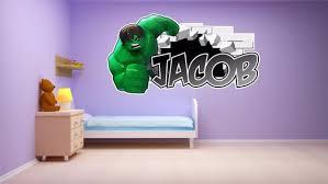 Lego Hulk Personalised Wall Sticker Children S Boy S Etsy