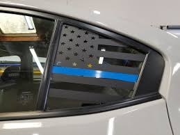 Thin Blue Line American Flag Quarter Window Decal 2015 2020 Wrx Sti Jdmfv Fanatic Wraps