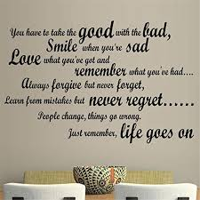 com wall sticker quote dctop smile when you are sad living