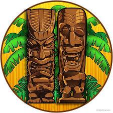 Tiki Gods Tropical Hawaiian Wall Decal Etsy
