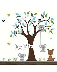 Check Out These Bargains On Nursery Wall Decals Nursery Wall Stickers Tree Decal With Animals Koala Bear Decals Kangaroo Decal Bird Wall Decals Wall Stickers Tree Wall Decal