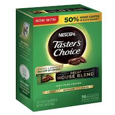 instant coffee single serve packets