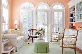 soft peach color walls for