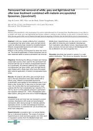 permanent hair removal of white grey