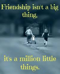 friendship isn t a big thing it s a million little things