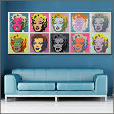 Large Size Printing Oil Painting Marilyn Andy Warhol Wall Art Canvas Print Pictures For Living Room And Bedroom No Frames Wlong Prints Pictures Picture For Living Roomoil Painting Aliexpress
