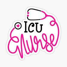 Icu Nurse Stickers Redbubble