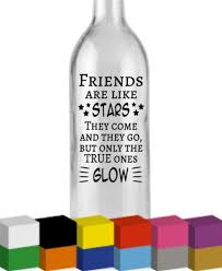 Shine Like The Star You Are Wine Bottle Vinyl Decal Sticker