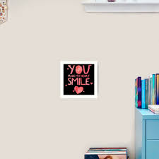 Cute And Cool Love Merchandise You Make My Heart Smile Best Gift For Men Women Mom Dad Boyfriend Girlfriend Husband Wife Him Her Couples Grandma Brother Or Friends Art Print