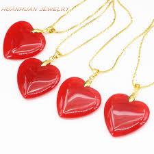 heart shape pendant chain necklace