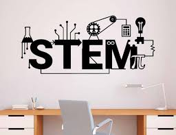 Stem Wall Decal Vinyl Sticker Science Technology Art Design School Classroom Interior Decoration Self Adhesive Wallpaper 3r05 Wall Stickers Aliexpress