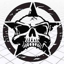 Jeep Distressed Star Decal Jeep Distressed Star Sticker Jeep Skull Army Star Ebay