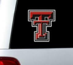 Texas Tech Red Raiders Decals Texas Tech Red Raiders Merchandise Texas Tech Red Raiders Ncaa Logo Glass Tatz Cutz Window Graphic Decals