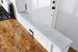 polished a mini marble countertop