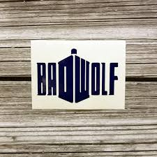 Bad Wolf Permanent Vinyl Decal Decal Only Coffee Mug Etsy