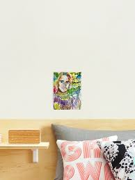 Slim Shady Em Rap Rapper Poster Wall Art Cool Dope Lyrics My Name Is Drawing Street Art Grafitti Photographic Print By Spacesbydee Redbubble