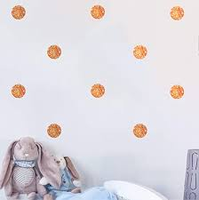 Amazon Com 144pcs Glitter Copper Polka Dots Wall Decals Bling Dot Wall Stickers Home Decor For Kids Room Living Room Bedroom Nursery Decor Glitter Copper Dot Home Kitchen