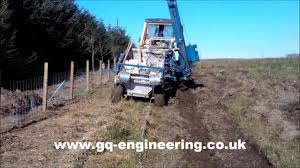Tractor And 4x4 Fencing Trailer Youtube