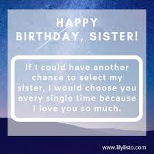 best happy birthday sister quotes quotes for sister birthday