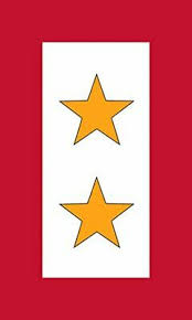 3x5 Inch 2 Gold Stars Service Flag Sticker Gave All Military Soldier Ebay