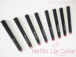e l f matte lip color review