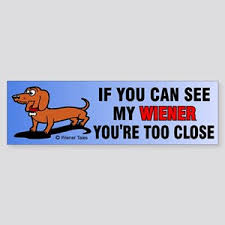 Weiner Dog Bumper Stickers Cafepress