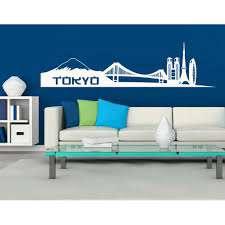 Tokyo City Skyline Wall Decal Cityscape Wall Sticker Vinyl Wall Art Home Decor Wall Mural 1335 White 59in X 15in Walmart Com Walmart Com