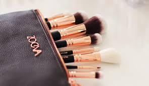 rose golden makeup brush set volume