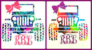 Personalized Jeep With Bow Monogram Sticker Vinyl Decal
