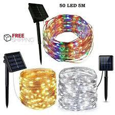 uk 5m 10m 50 led solar string lights