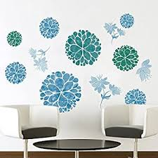 Amazon Com Amaonm Fashion 3d Diy Creative Blue Flowers Wall Decals Flower Vines Wall Stickers Murals Removable Decor Decal For Living Room Girls Bedroom Home Wall Decoration Nursery Room Sticker Kids Stickers Home
