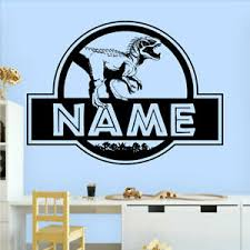 Custom Name Jurassic Dinosaur Teeth Par Fun Vinyl Decal Wall Art Sticker Home Uk Ebay
