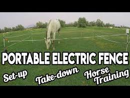 Portable Electric Fence Tutorial Review W Renae Cowley Youtube