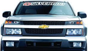 Product Chevrolet Chevy Silverado Windshield Banner Graphics Vinyl Decal Sticker