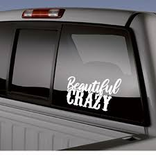 Beautiful Crazy Car Truck Boat Auto Decal Decals Black White Etsy