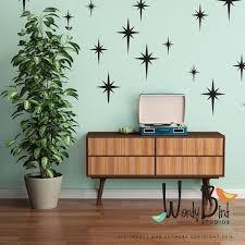 Retro Starburst Vinyl Wall Decals Mid Century Modern 1950s Etsy Retro Home Decor Vintage Bathroom Decor Retro Home