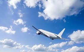 تحميل خلفيات طائرة ركاب السماء السحب البيضاء الطائرة عريضة
