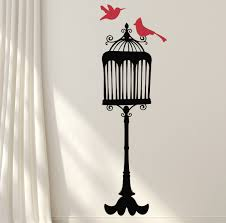 Winston Porter Bird With Cage Wall Decal Wayfair