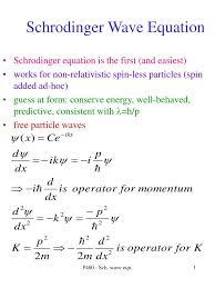 ppt schrodinger wave equation
