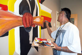 Gallery: Local Artist Wesley May Paints Mural in AIRC | American Indian  Resource Center | Bemidji State University