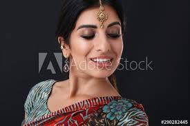 image of joyful hindus with makeup