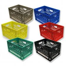 Set Of 6 Rectangular Milk Crates