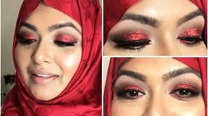 pohela boishakh inspired red glitter