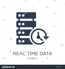Real Time Data Icon Trendy Flat Stock Vector (Royalty Free) 1208994526
